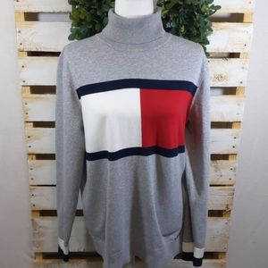 Tommy Hilfiger grey turtle neck sweater XL